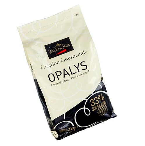 Opalys, weiße Couverture, Callets, 33% Kakaobutter, Valrhona, 3 kg