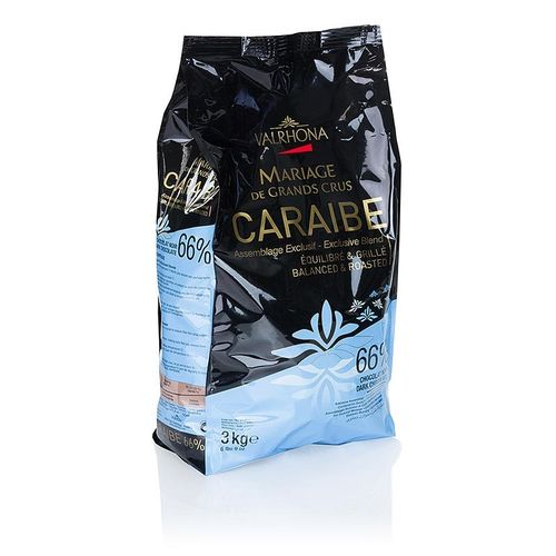 "Pur Caraibe ""Grand Cru"", dunkle Couverture, Callets, 66% Kakao, Valrhona, 3 kg"