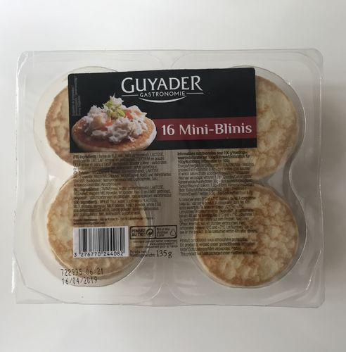 Mini-Blinis, Guyader, 16 St., 135g